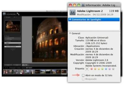 Activar Lightroom modo 64 bit en Mac