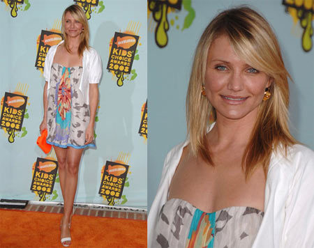 El look de Cameron Diaz en los Kids Choice Awards
