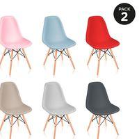 Packs de dos sillas estilo nórdico en seis colores a elegir por 27,99 euros y envío gratis en eBay
