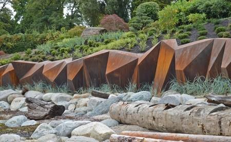 Los diques también pueden ser una obra de arte, como este de Vancouver