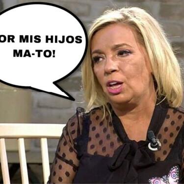 Carmen Borrego estalla y se marca un 'Belenazo': Por sus hijos MA-TA, y en el plató de 'Viva la Vida' remata