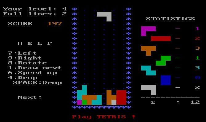 Tetris (Spectrum Holobyte, 1986)