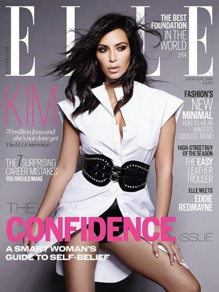 Kim Kardashian Elle Uk January 2015 2