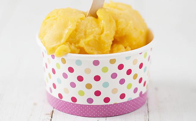 Sorbete de mango y naranja: receta con Thermomix