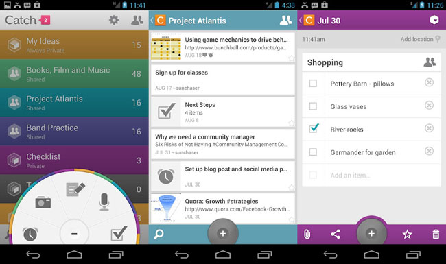 Catch Notes para Android