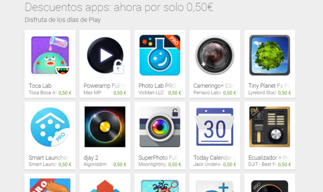 Días de Google® Play