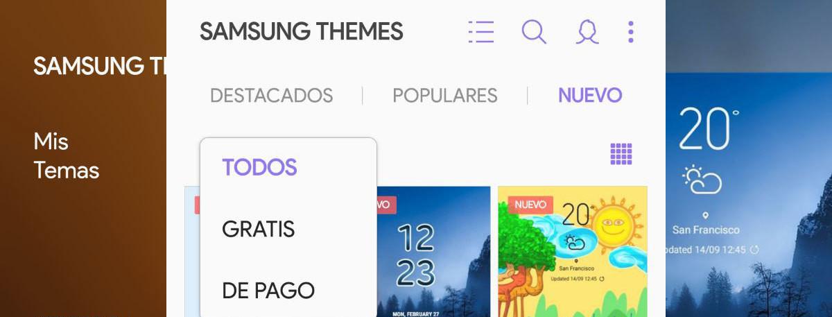3860fbba1a0 Los temas gratis para Samsung dejan de ser gratis en Android Pie: caducan a  las dos semanas