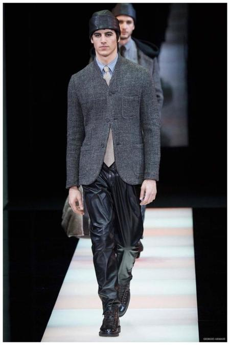 Giorgio Armani Menswear Fall Winter 2015 Collection Milan Fashion Week 016