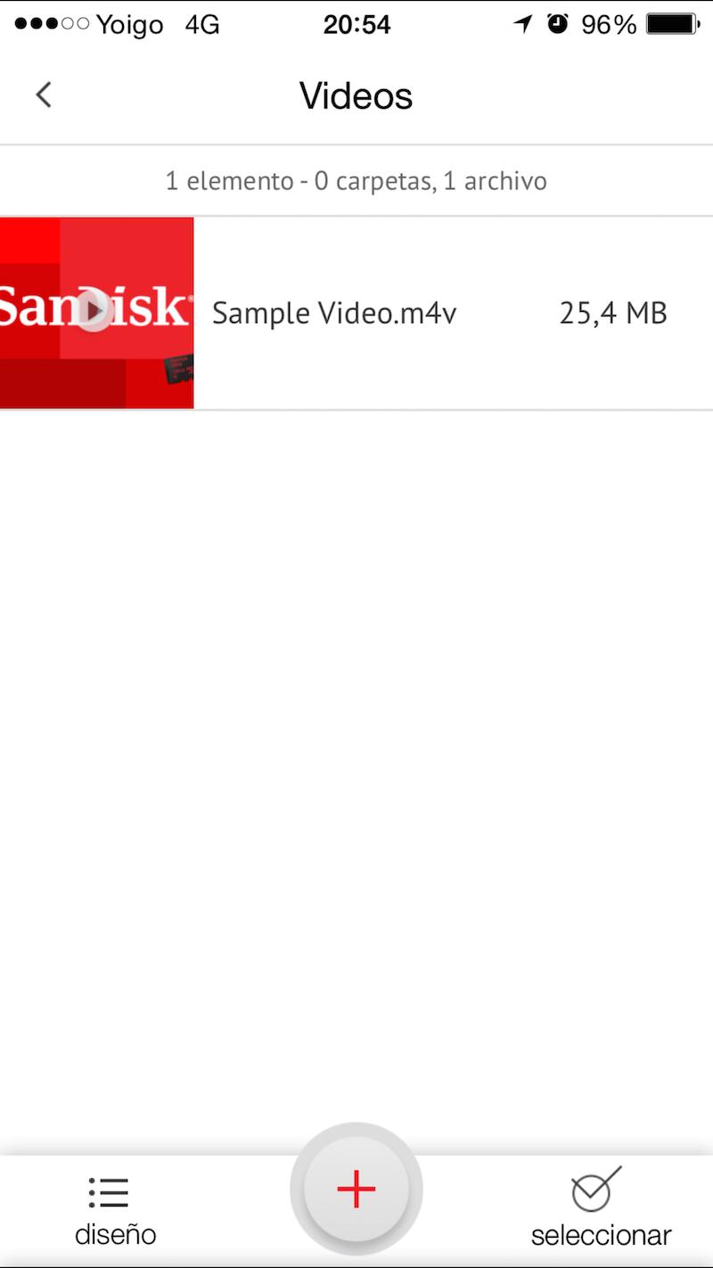 Así es la aplicación de SanDisk iXpand