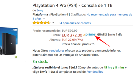 Etiqueta Amazon Prime