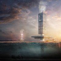 """Este rascacielos busca ser el primero con """"diseño flotante"""" y concebido para combatir y reciclar la basura de los océanos"""