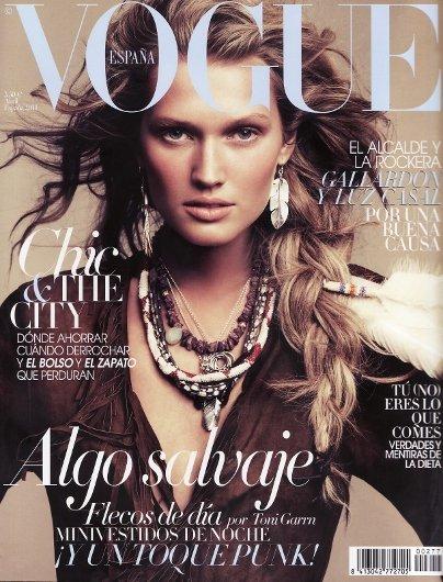Inspiración india en el look de Toni Garrn para Vogue España