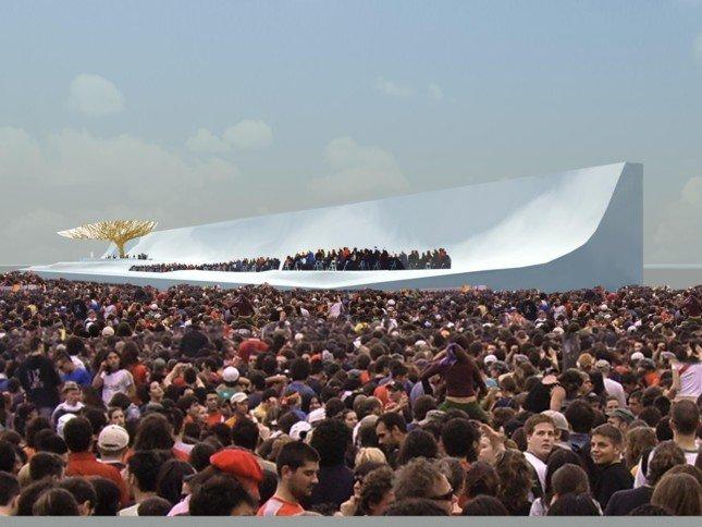 jmj2011 Escenario en Cuatro Vientos