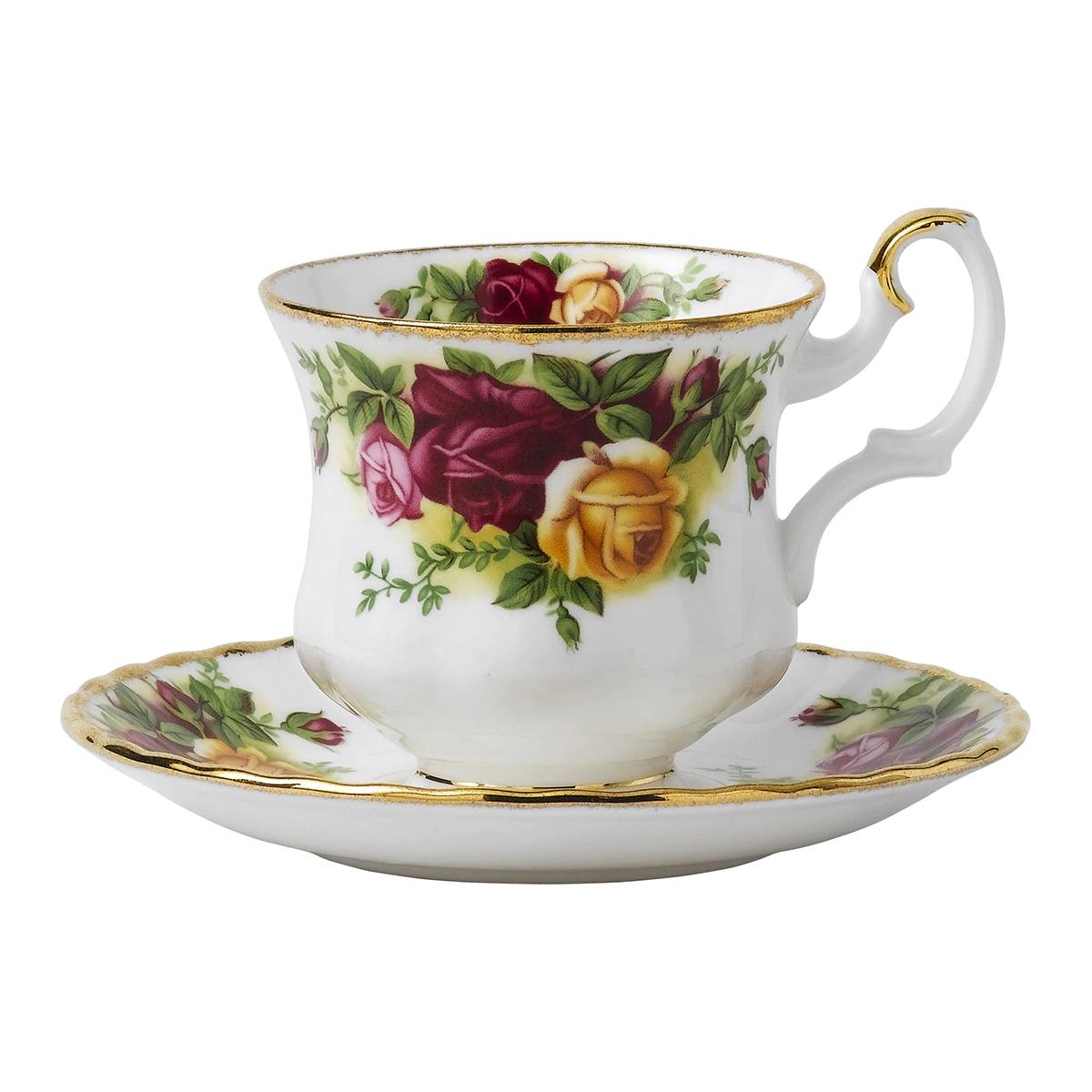Taza de café con plato Old Country Roses Royal Albert