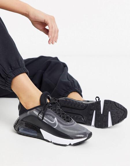 Zapatillas En Negro Y Plateado Air Max 2090 De Nike