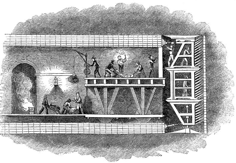 La tuneladora humana que cruzó el Támesis bajo tierra