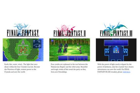 Los tres primeros Final Fantasy Pixel Remaster ya están disponibles en Google Play y la App Store