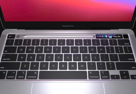 Almacenar el Apple Pencil en la TouchBar de nuestro Mac, esta es la loca idea detrás de este mockup