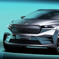 ¡Al descubierto! El Škoda Enyaq iV desvela sus formas en un nuevo teaser: el SUV eléctrico es el Volkswagen ID.4 checo