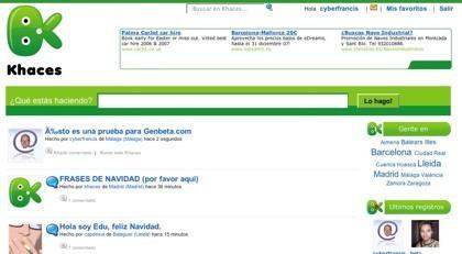 Khaces, servicio de microblogging para usuarios de España