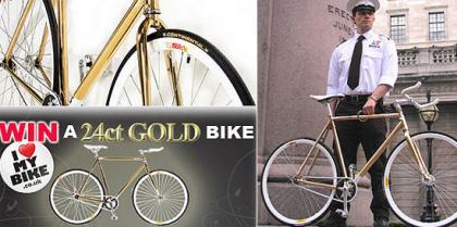 La tontería del día: bicicleta en oro