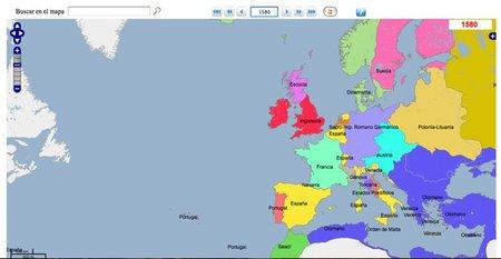 GeaCron: Mapa interactivo de fronteras desde 3.000 a.c a la actualidad