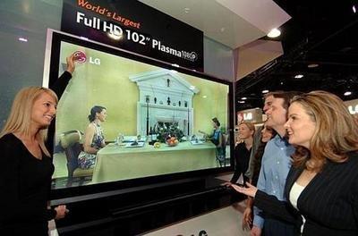 Guerra de tamaños con los televisores de Plasma