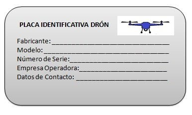 Placa Identificativa Dron