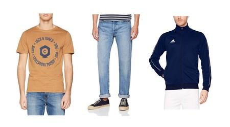 Chollos en tallas sueltas de pantalones, camisetas y sudaderas de marcas como Levi's, Adidas o Jack & Jones en Amazon