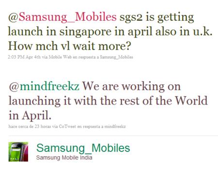 Samsung Galaxy S2 Lanzamiento