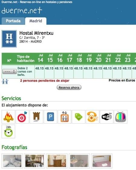 Duerme.net: alojamiento barato en Madrid