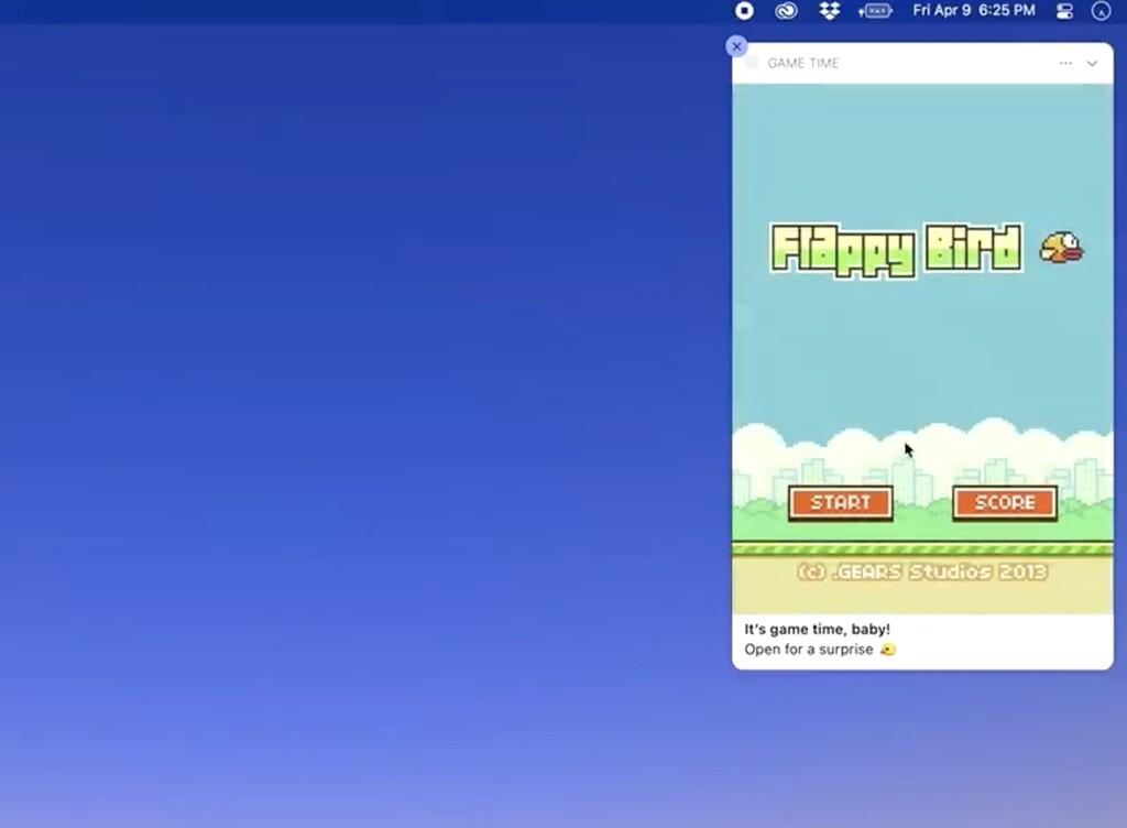 Flappy Bird llega a… las notificaciones de macOS Big Sur gracias al plan de un desarrollador