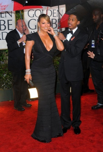 Las famosas peor vestidas de los Globos de Oro. Mariah Carey