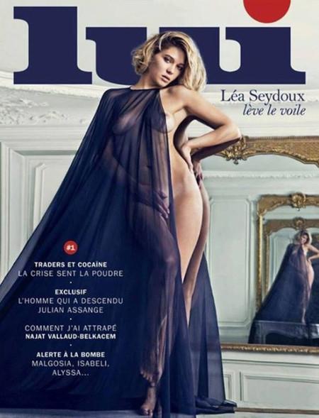 Lea Seydoux topless Lui portada