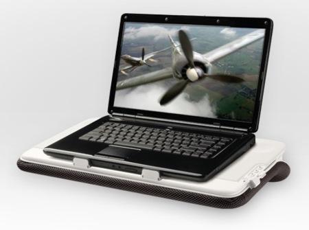 Logitech Speaker Lapdesk N700, soporte para portátil con altavoces