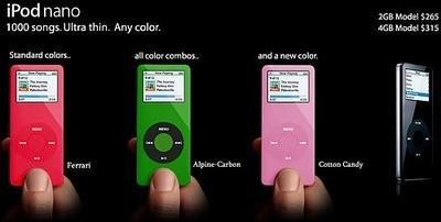iPod nano de colores