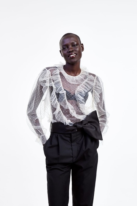 blusa plumeti de zara
