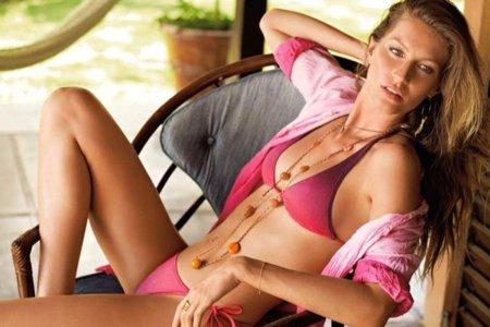 Catálogo de baño de Calzedonia con Gisele Bundchen Verano 2010: dominan los bikinis V