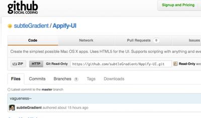 Appify-UI, creando apps para Mac en un verbo