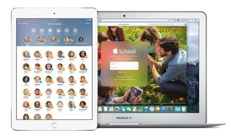 La app Aula y el portal de gestión de escuelas de Apple