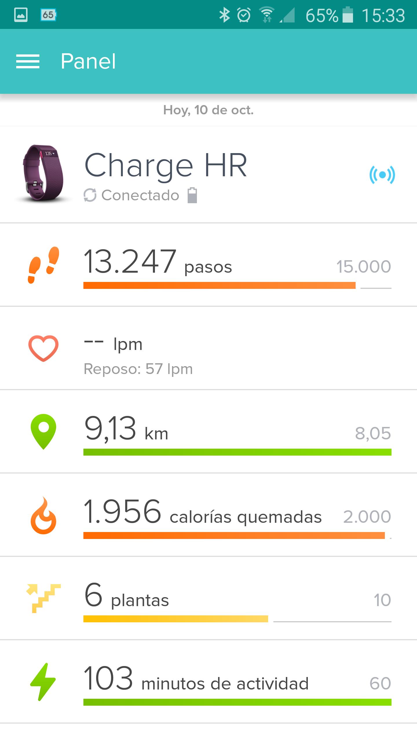 Foto de Aplicación Fitbit en smartphone (4/19)