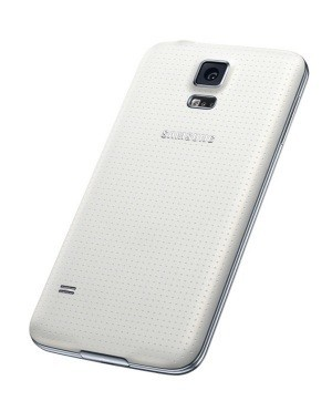 galaxy S5 lateral en blanco