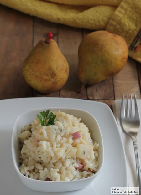 risotto pera gorgonzola pakus directo al paladar