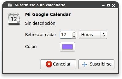 Google Calendar en Evolution
