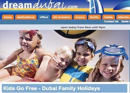 Los niños viajan gratis a Dubái