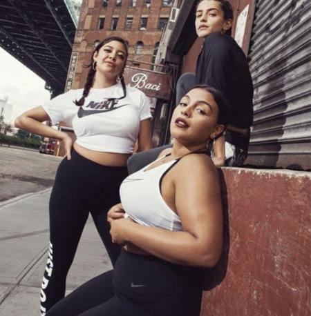 Nike plus size body positive curvy colección tallas grandes