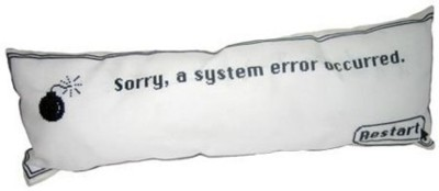 """Almohada """"System Error"""" de Mac OS"""