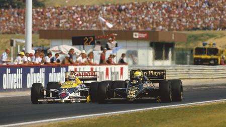 Senna Mansell Hungria F1 1986