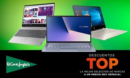 Ofertas Top en El Corte Inglés: 14 portátiles HP, ASUS, MSI o LG con descuentos del 15%