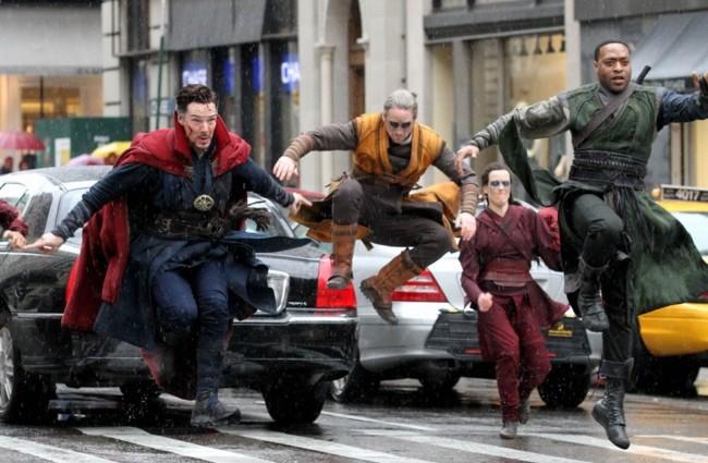 Foto del rodaje de Doctor Strange